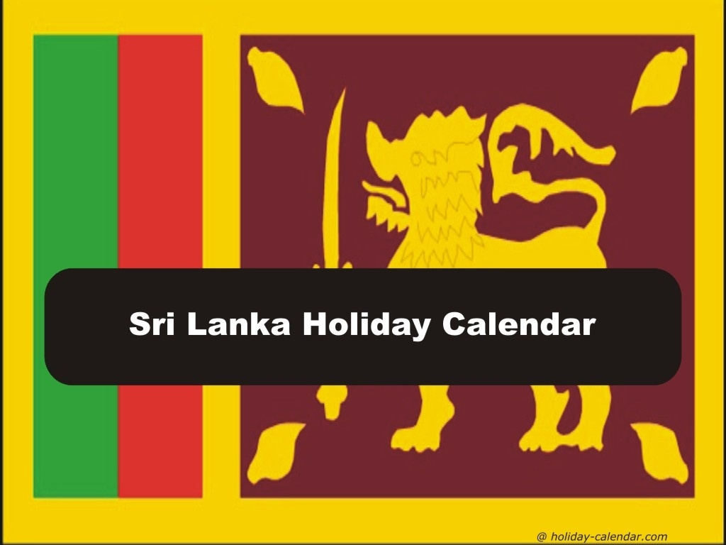 Sri Lanka 2018 / 2019 Holiday Calendar  List Ofhoidays In Sri Lanka