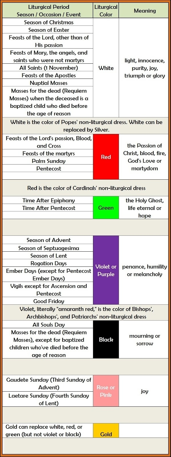 St. Luke Catholic Church: Liturgical Calendar  Catholic Liturgical Calendar For Students