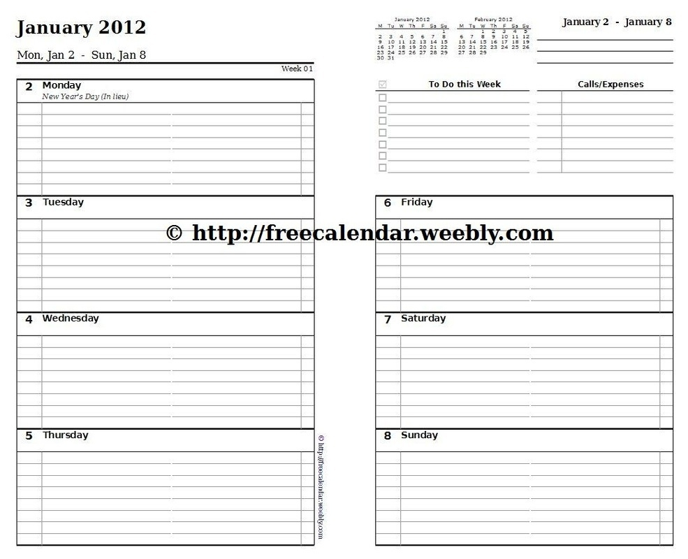 Template For A Weekly Schedule - Shefftunes.tk  Free Printable Weekly Schedule Planner