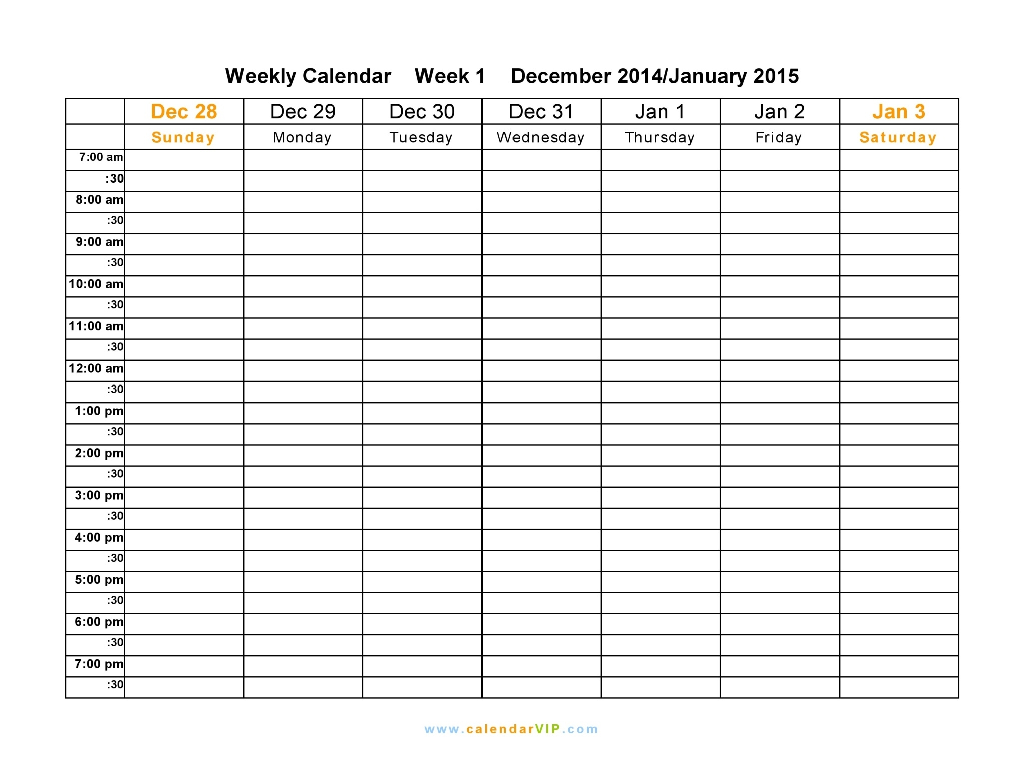 Template For A Weekly Schedule - Shefftunes.tk  Free Template For Weekly Schedule