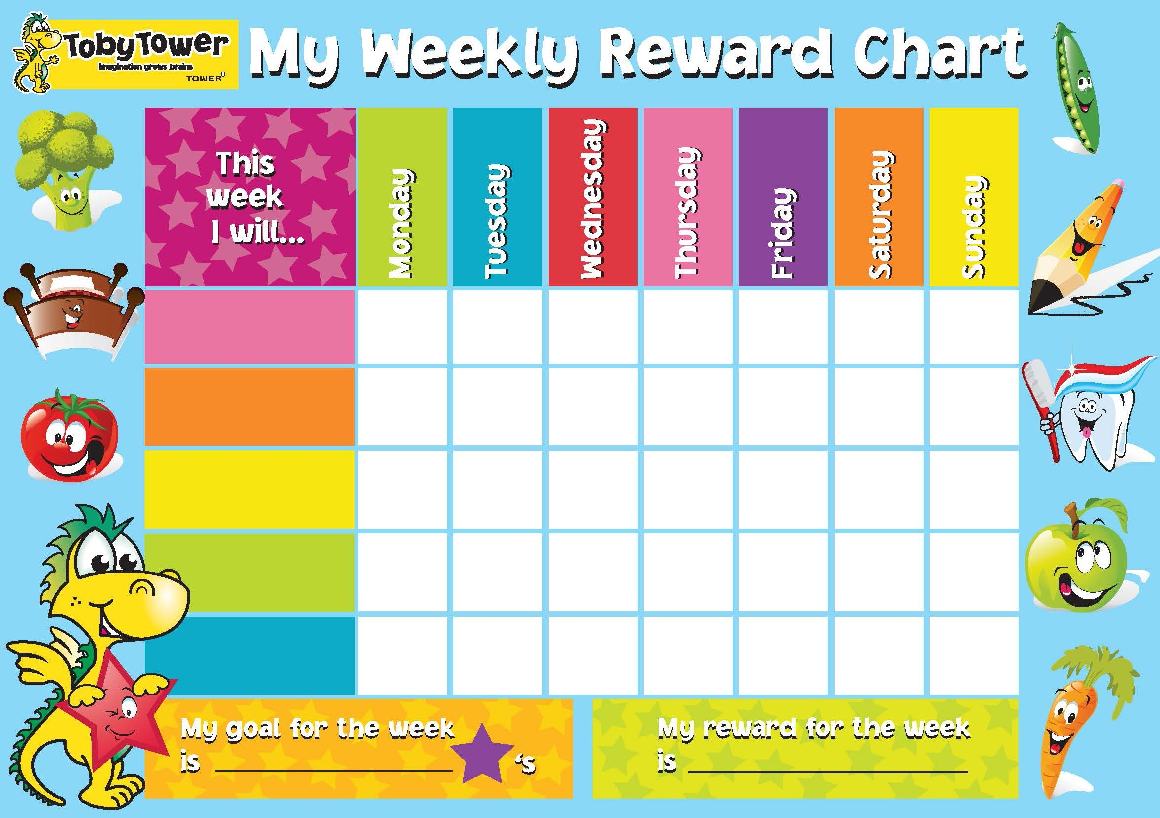 Template For Reward Chart - Yeniscale.co  Free Printable Blank Behavior Charts