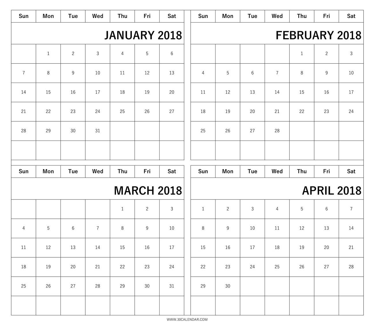 The Awesome Free Printable Four Month Calendar For Current Residence  Blank Four Month Calendar Template