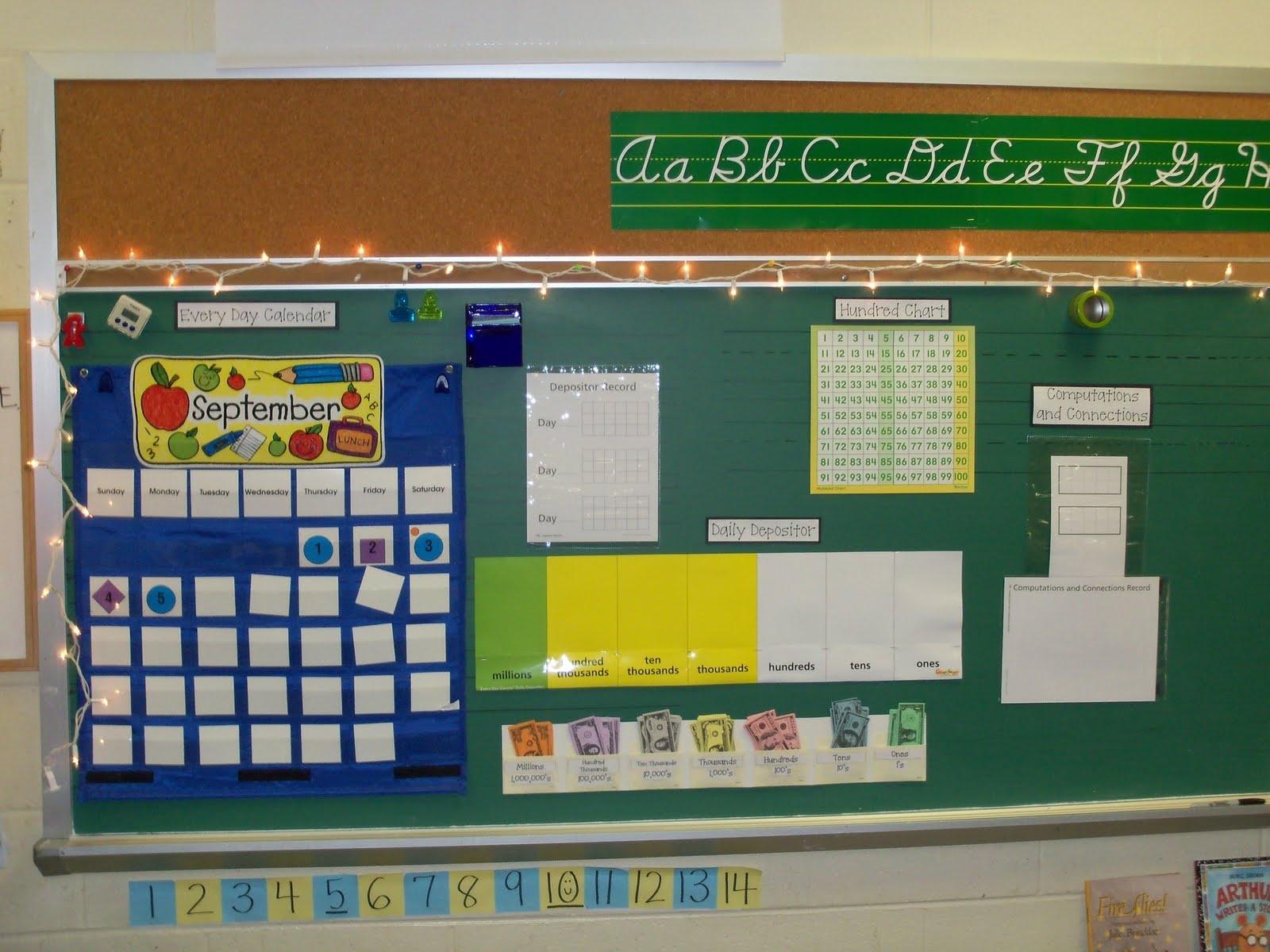 Third Grade Meanderings  Fourth Grade Everyday Math Calendar Wall