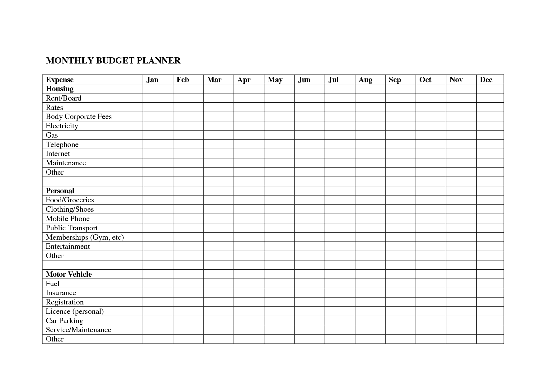 Top 5 Monthly Bills Spreadsheet - Samplebusinessresume  Blank Monthly Bill Payment Worksheet