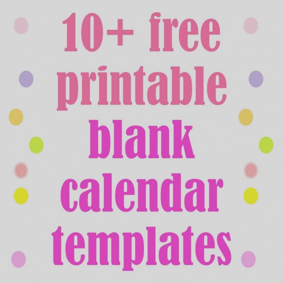 Trend Free Printable Blank Calendar Templates Template Pinteres  Free Blank Calendar Templates To Print