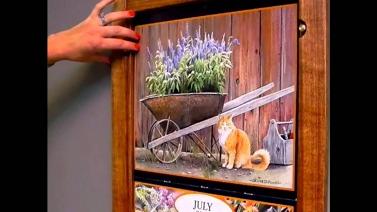 Wall Calendar Frame Plan - Item 49887 - Youtube  Wall Calendar Frames And Holders