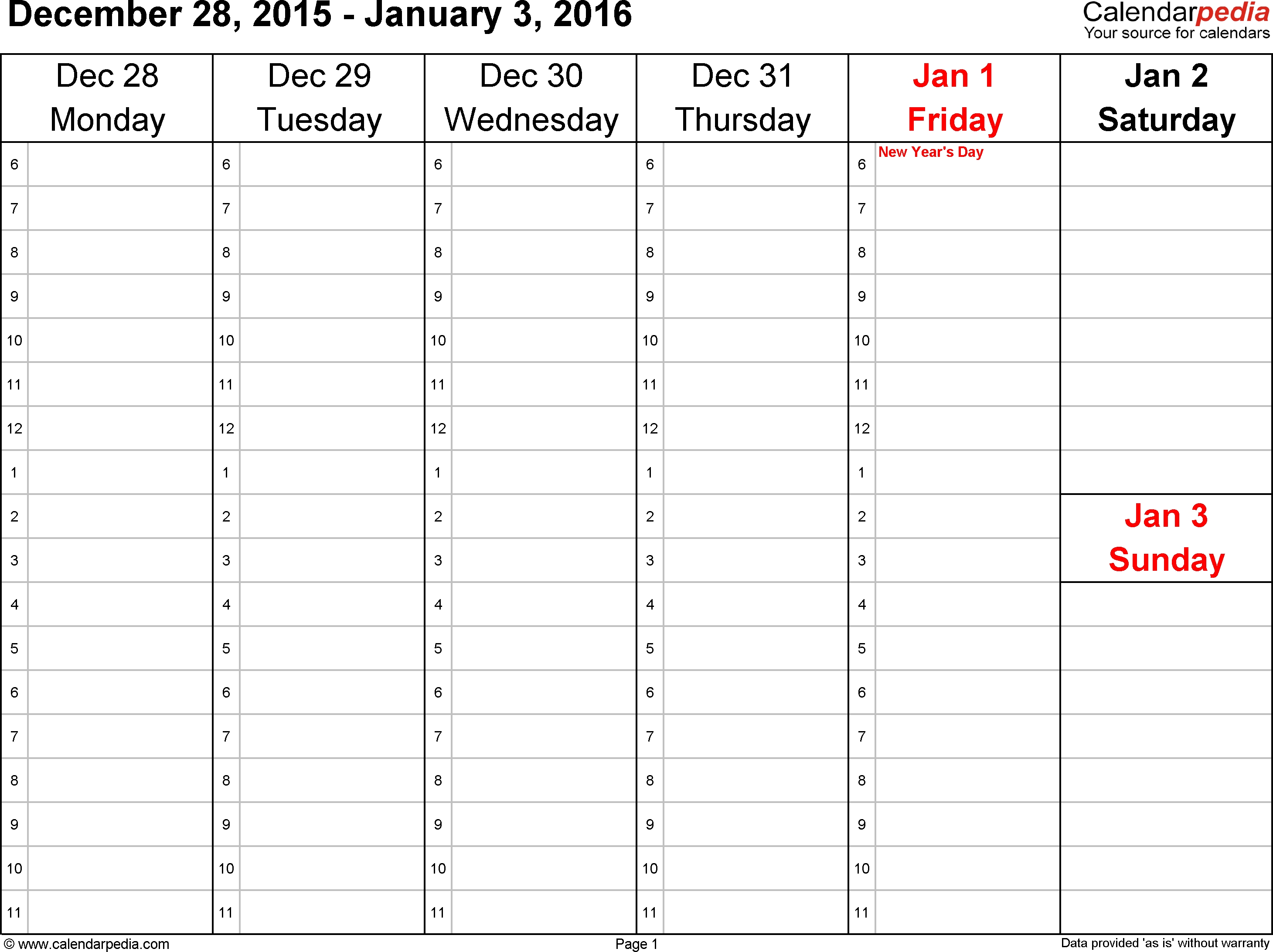Weekly Calendar 2016 For Word - 12 Free Printable Templates  Weekly Calandar Template Starting Monday