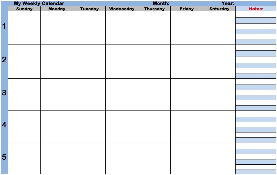 Weekly Calendar With Time Slots Template Weekly Calendar Html  Weekly Calendar Time Slots Printable