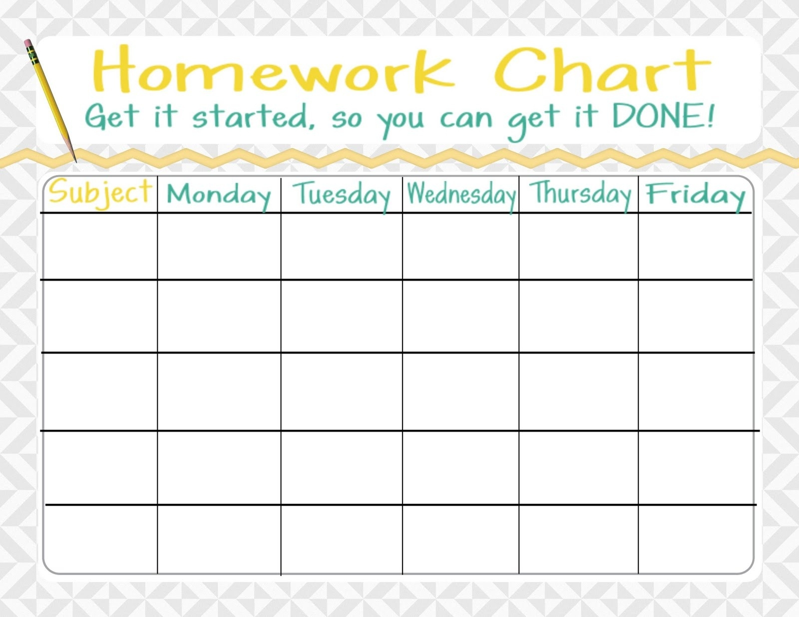 Weekly Homework Assignment Sheets - Yeniscale.co  1St Grade Homework Chart Templates