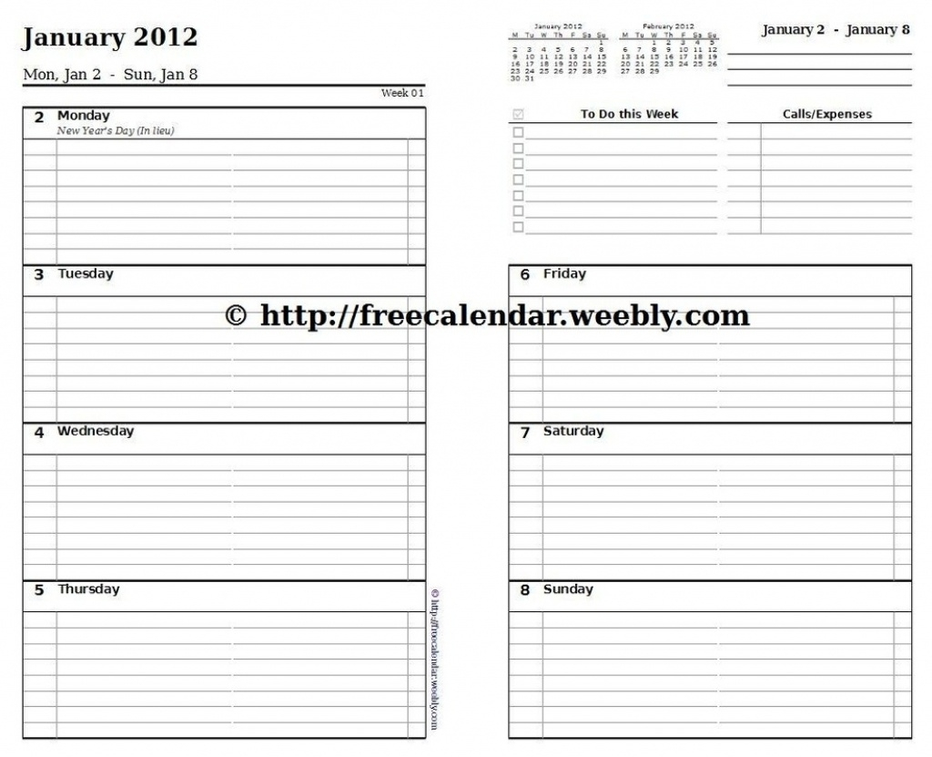 What Is So Fascinating About 5.5 X 8.5 Weekly Planner Template  10 X 8 Planner Template