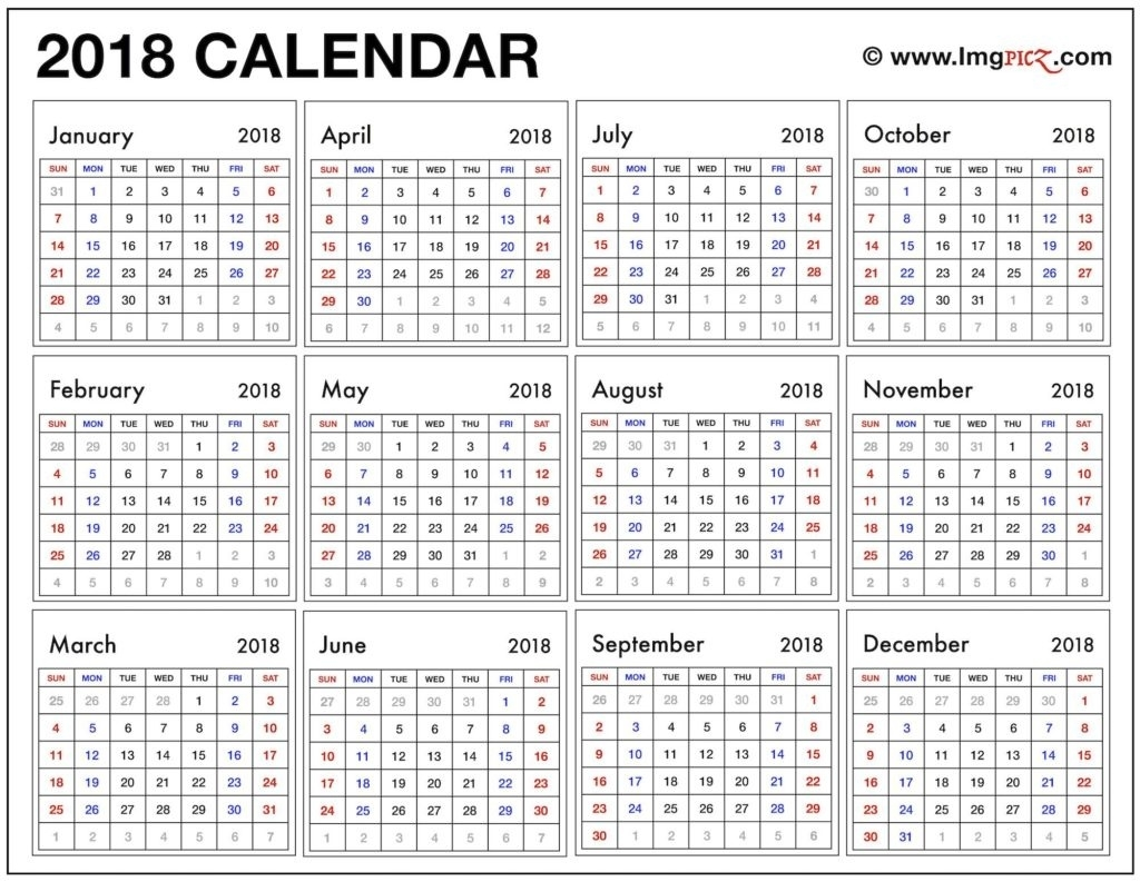 Year At A Glance Calendars - Yeniscale.co  Year At A Glance Calendar Simple Design