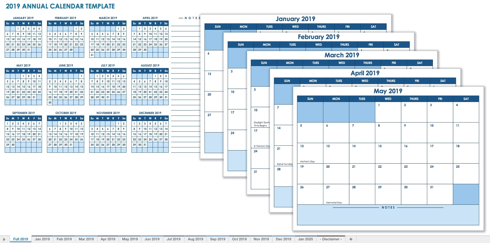 15 Free Monthly Calendar Templates | Smartsheet  Free Printable Month By Month Calendars
