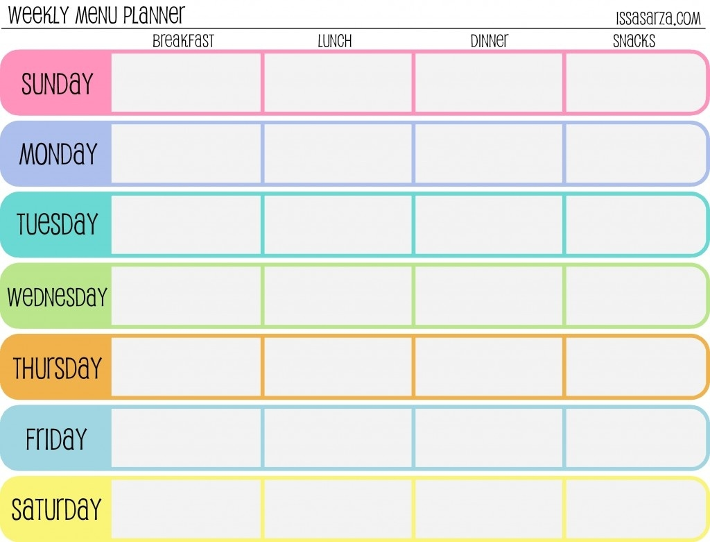 7 Day Calendar Template Fillable | Calendar Template Printable  7 Day Calendar Template Fillable