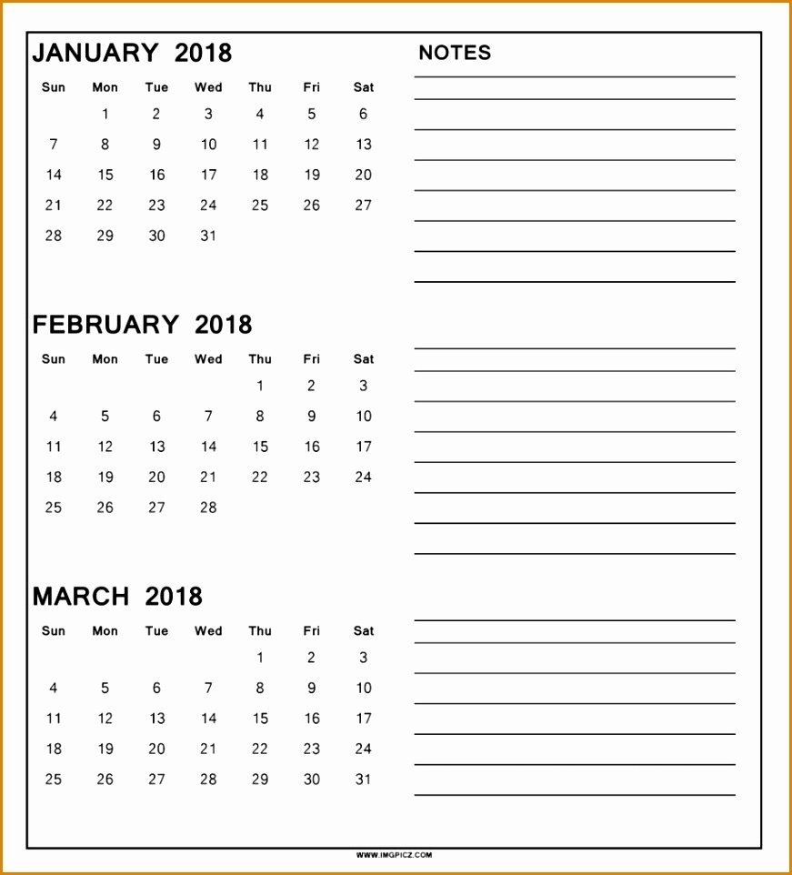 8 Blank 3 Month Calendar 2018 - Besttemplates - Besttemplates  Download A 3 Month Calendar