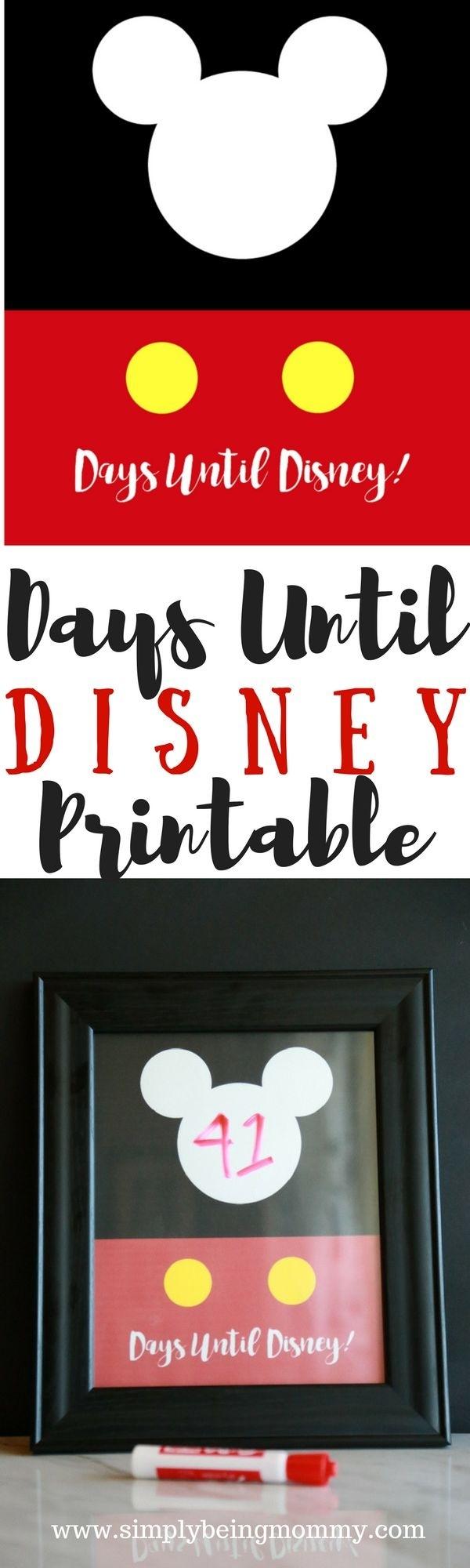 99 Days To Disney Printable Calendar | Calendar Template Printable  99 Days To Disney Printable Calendar