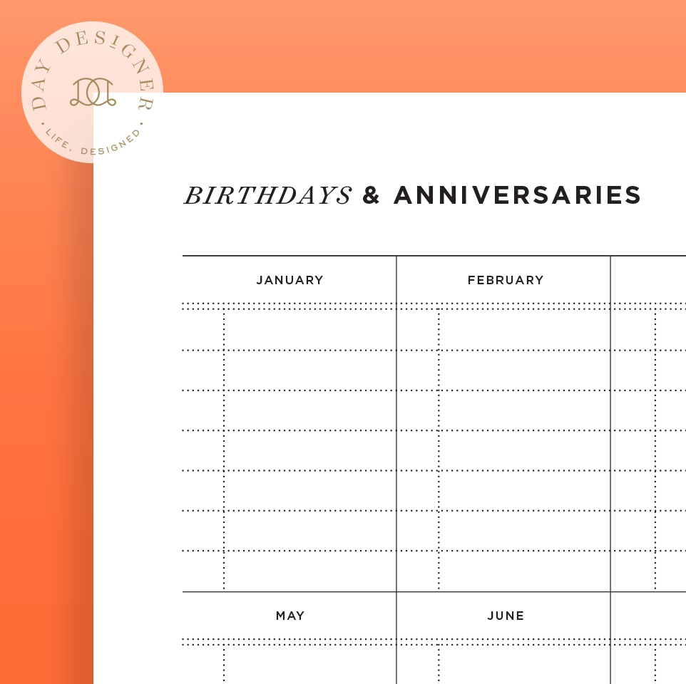 Birthday Anniversary Calendar - Gecce.tackletarts.co  Format For A Birthday/ Anniversary Calendar
