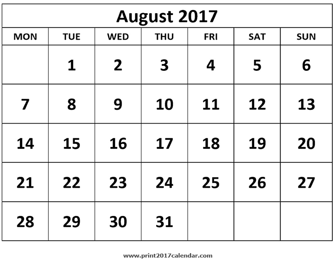 Calendar 2017 August Through December | Calendar Template 2018  Calander From August - December
