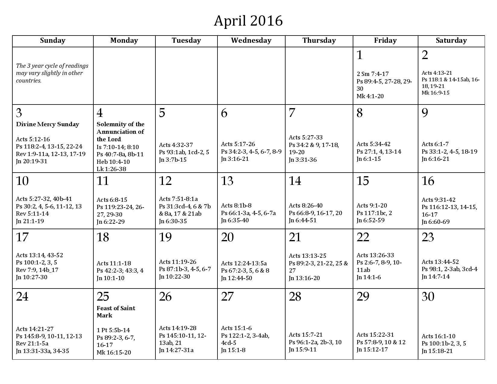 Calendar   Catholic   Pinterest   Daily Mass Readings, Mass Readings  Catholic Daily Planner Template Printable Free