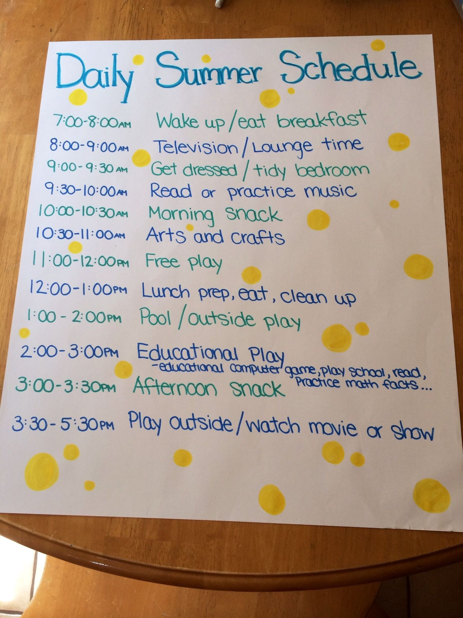 Can't Believe I'm Considering This (It Is Summer Break After All  Daily Summer Activities For Preschoolers