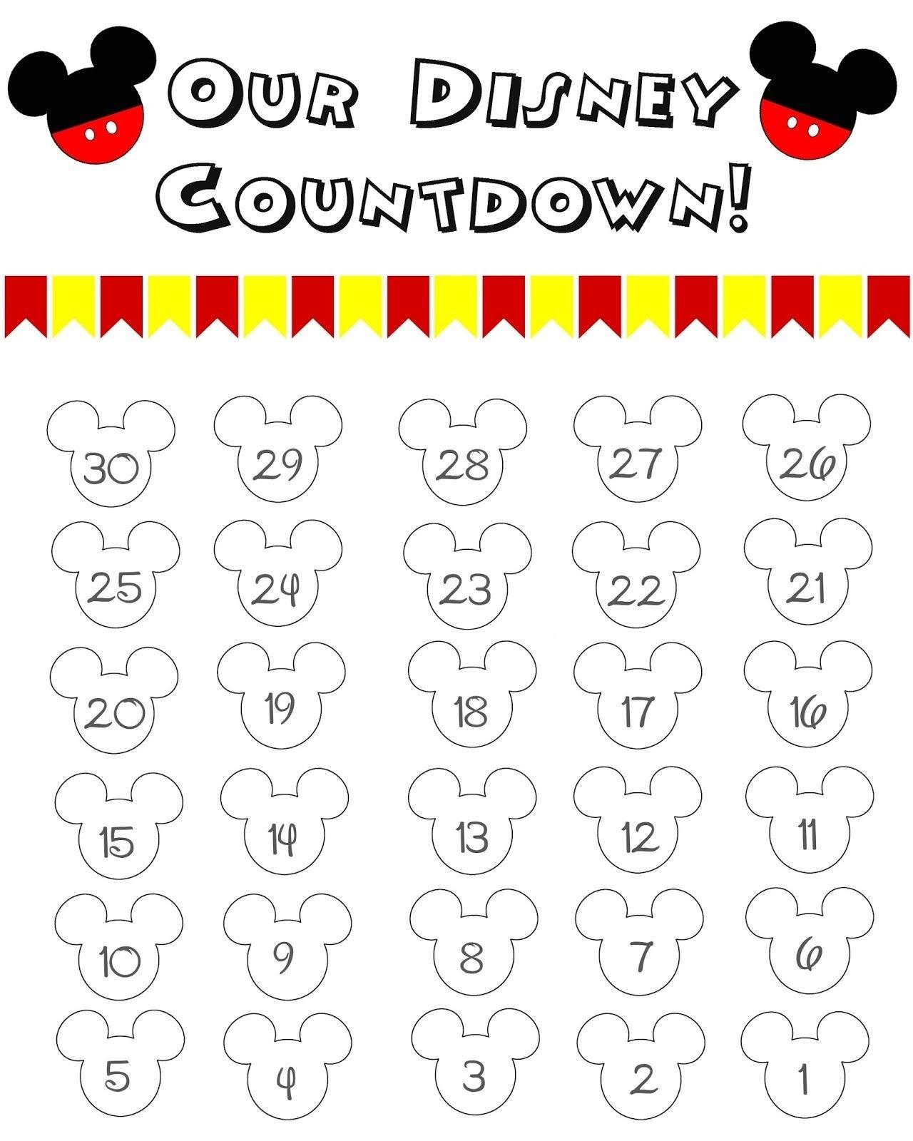 Disney World Countdown Calendar - Free Printable | Pinterest  99 Days To Disney Printable Calendar