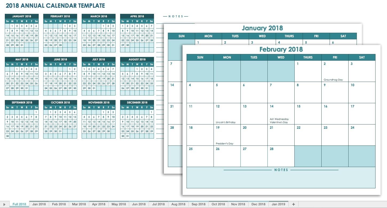 Free Blank Calendar Templates - Smartsheet  12 Month Training Calendar Template