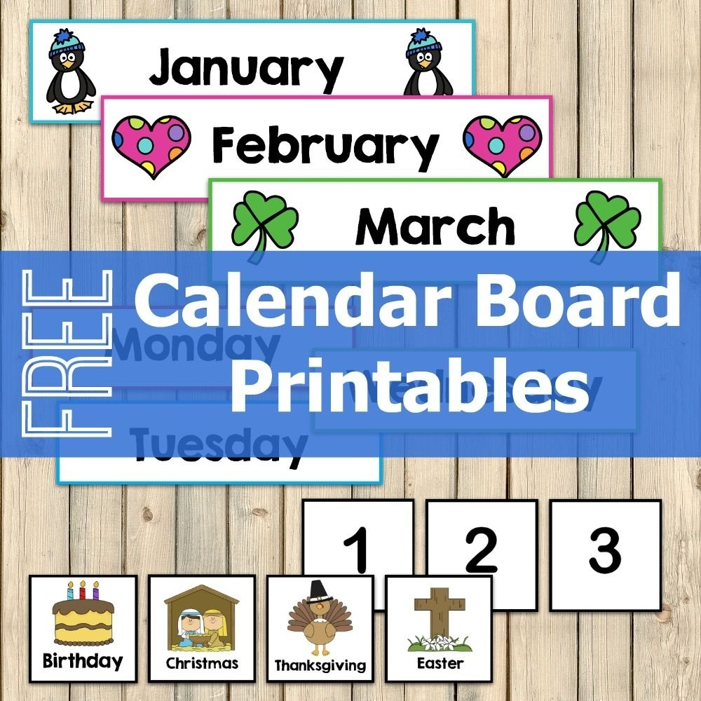 Free Calendar Board Printables | Pinterest | Calendar Board  Printable Numbers 1-31 For Calendar