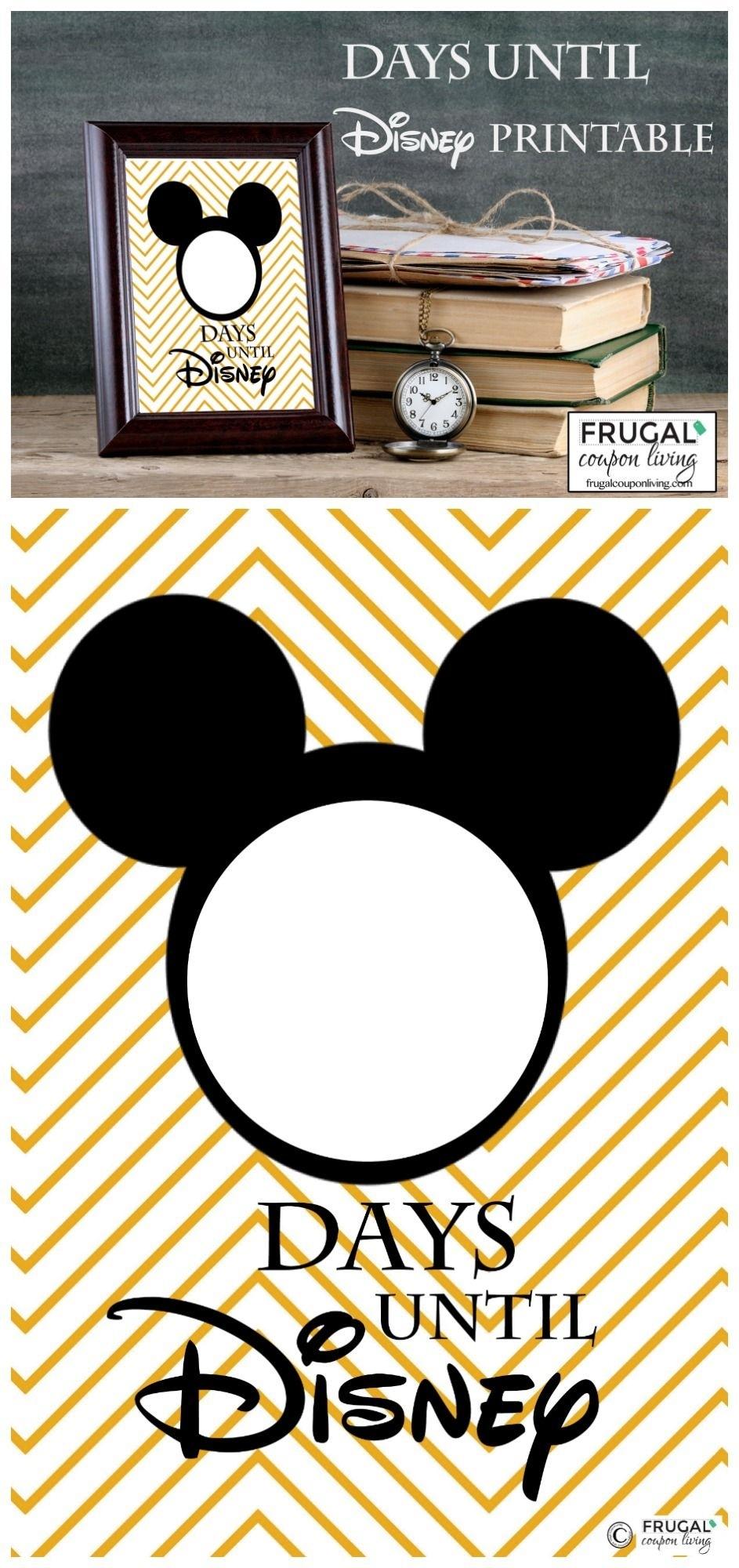 Free Countdown To Disney Printable | Pinterest | Frugal, Free  99 Days To Disney Printable Calendar
