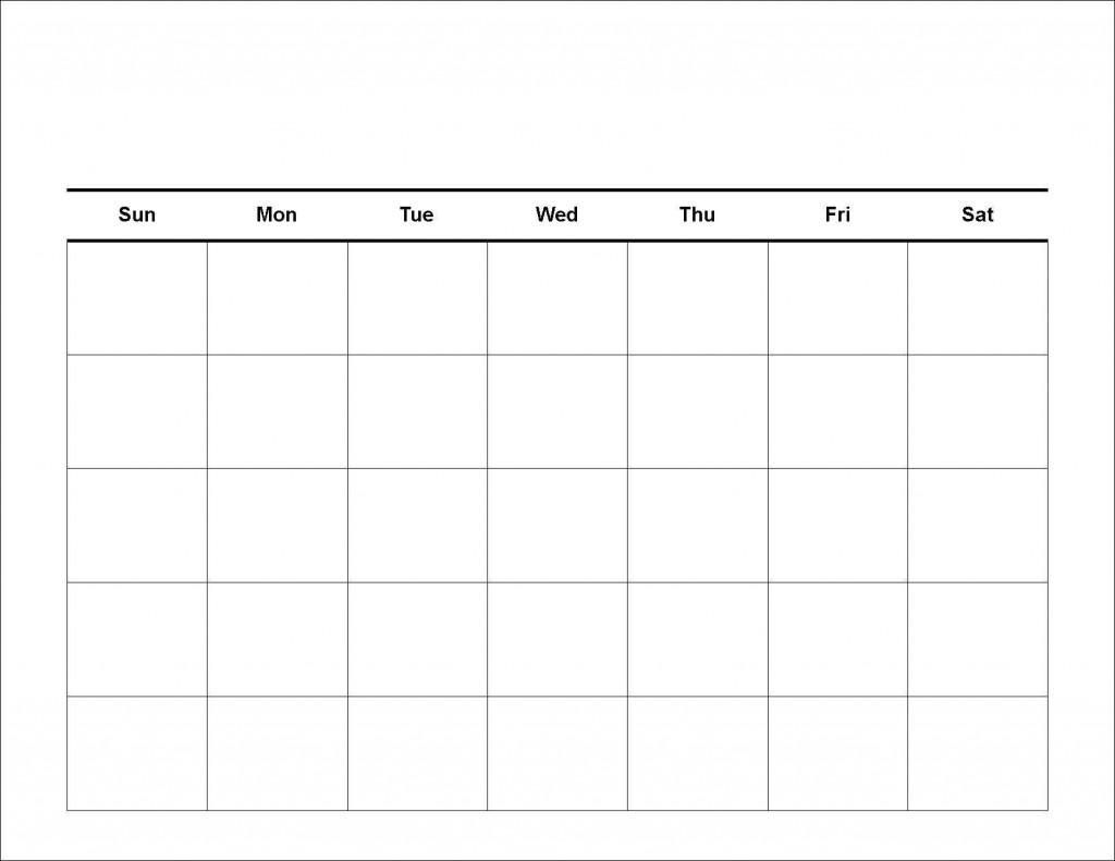 Free Printable 5 Day Monthly Calendar 2018 | Printable Daily Calendar  5 Day Monthly Calendar Printable