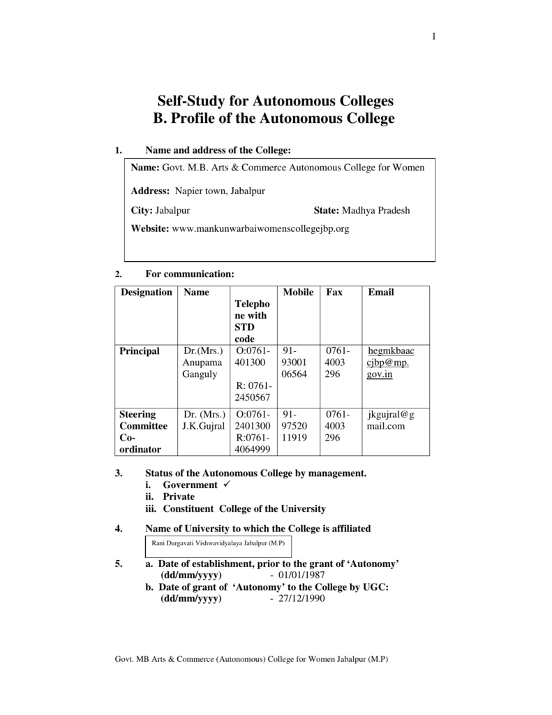 Mbssr Iind Cycle B - Govt. Colleges Of M.p.  Babu Lal Chaturbedi Calendar 1987
