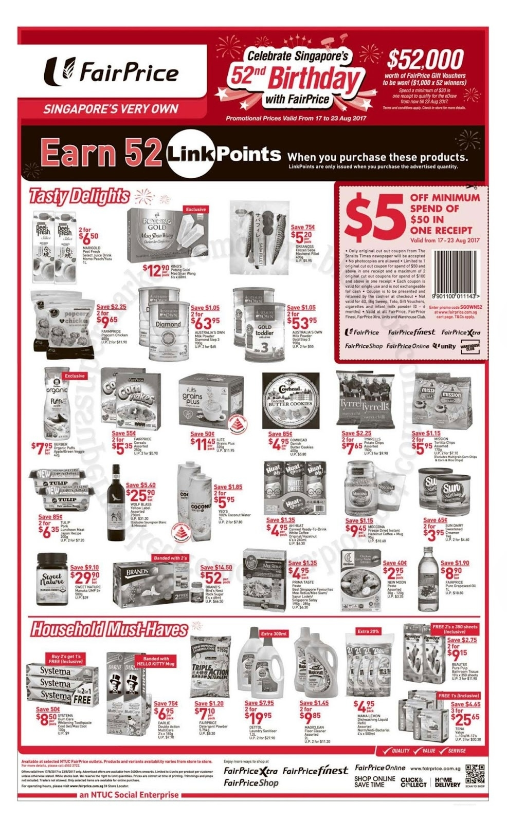 Ntuc Fairprice National Day Promotion 17 - 23 August 2017  Images National Day August 23