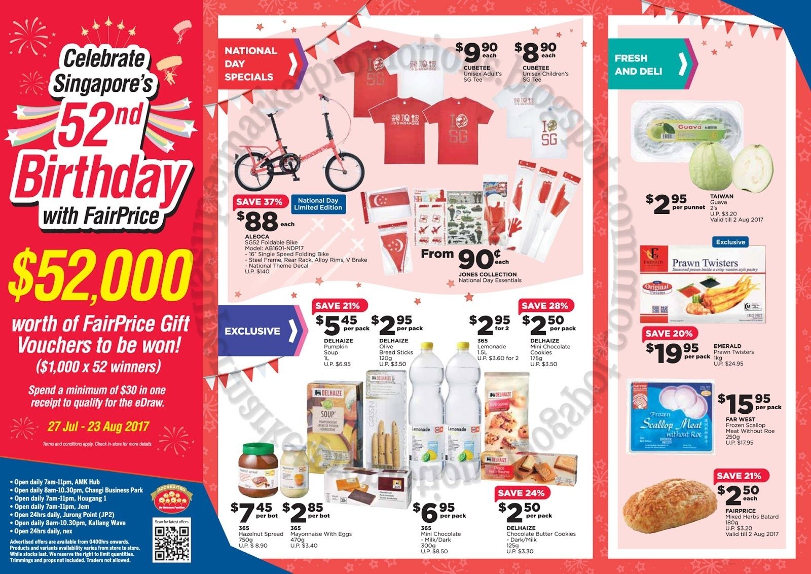 Ntuc Fairprice Xtra National Day Promotion 27 July - 09 August 2017  Images National Day August 23