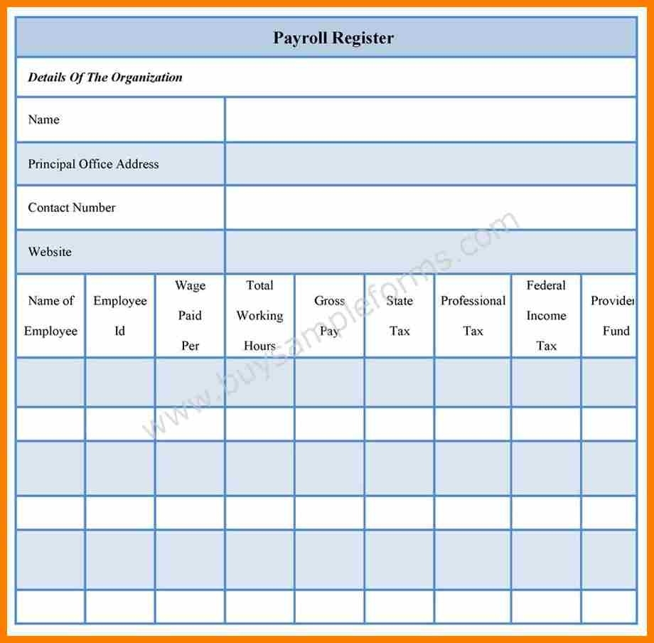 Payroll Form Templates | Deaoscura  Sample Of Weekly Payroll Format
