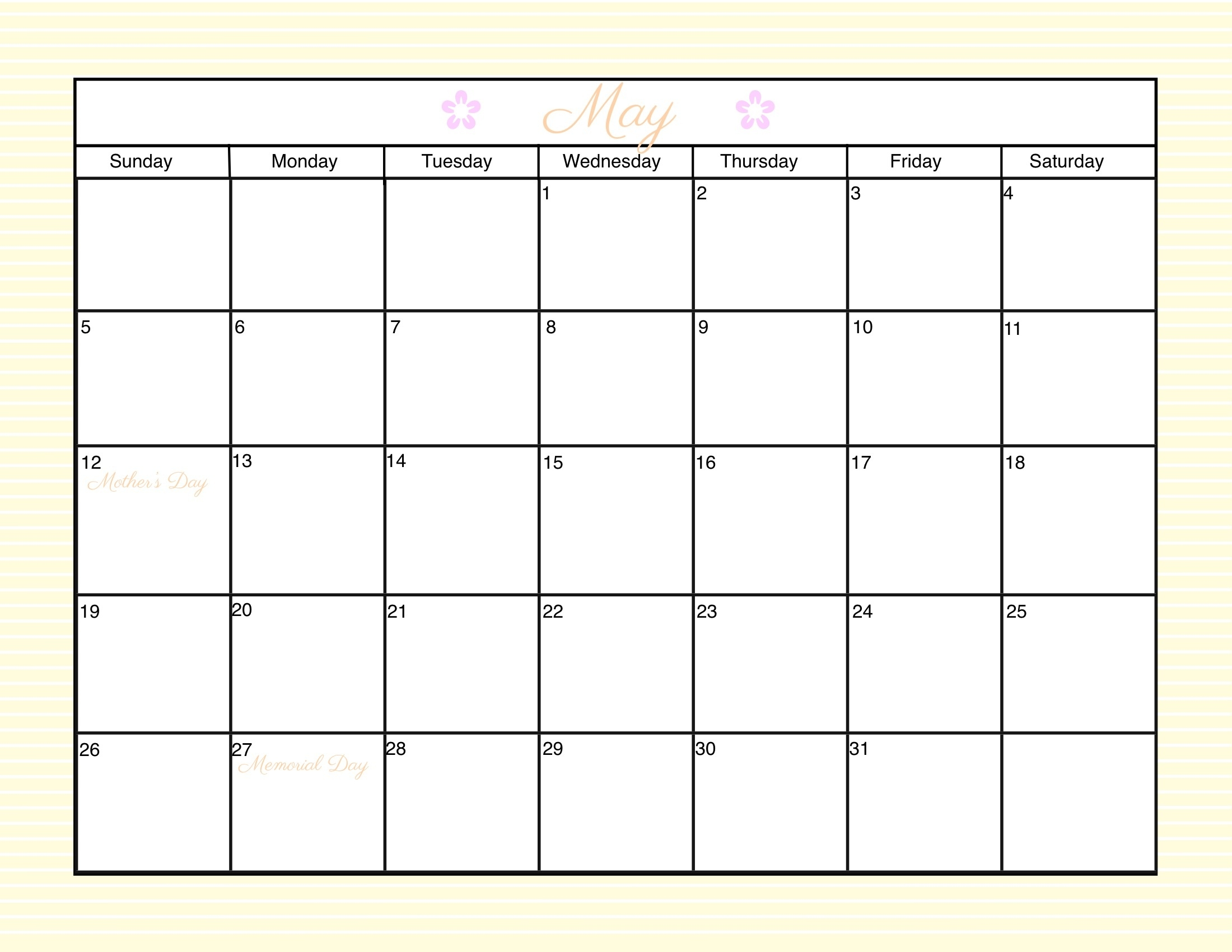 Printable Blank Calendar Template | Trattorialeondoro  Free Calendars To Print Without Downloading