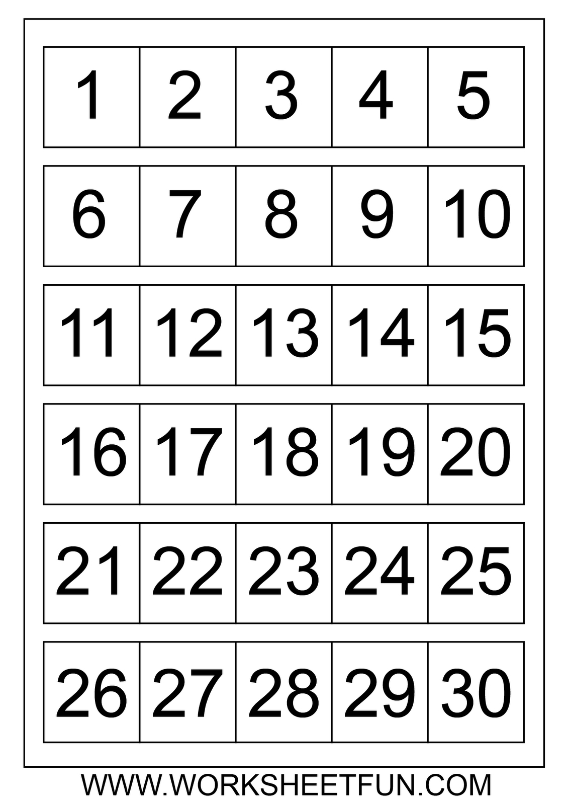 Printable Calendar Numbers 1 31 Free Calendar Printable Template  Printable Numbers 1-31 For Calendar