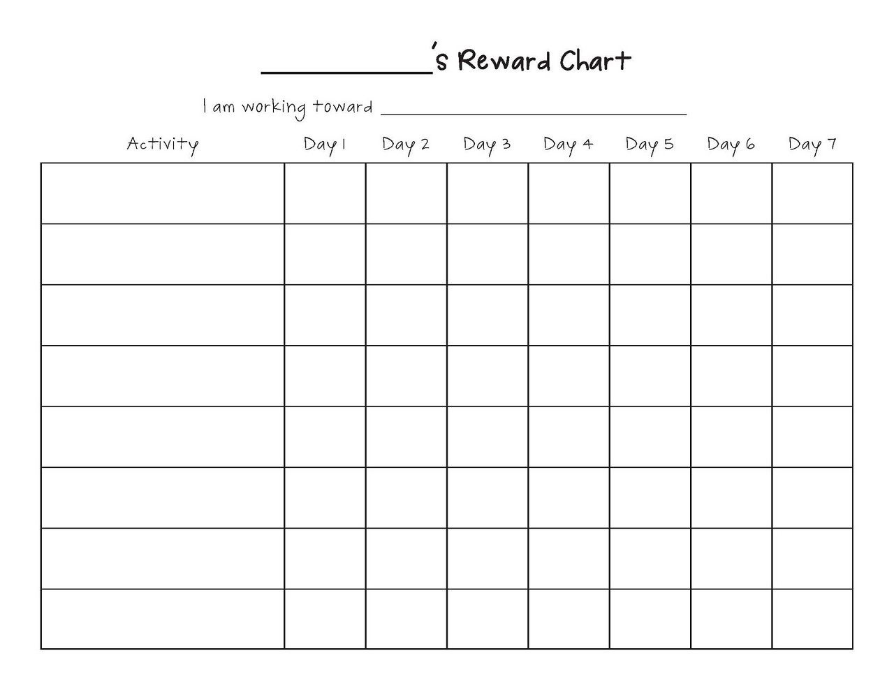 Beautiful monthly chart template illustration model for Monthly behavior calendar template