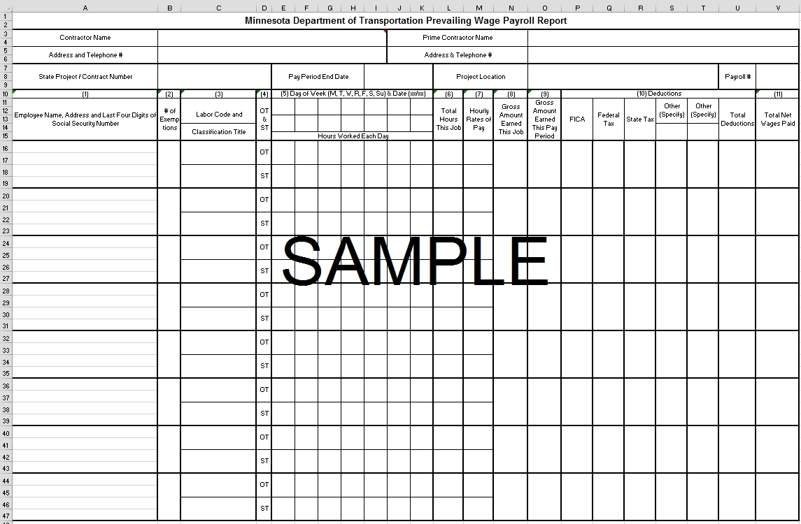 Report Samples | Payroll Report Software | Certified Payroll Reporting  Sample Of Weekly Payroll Format