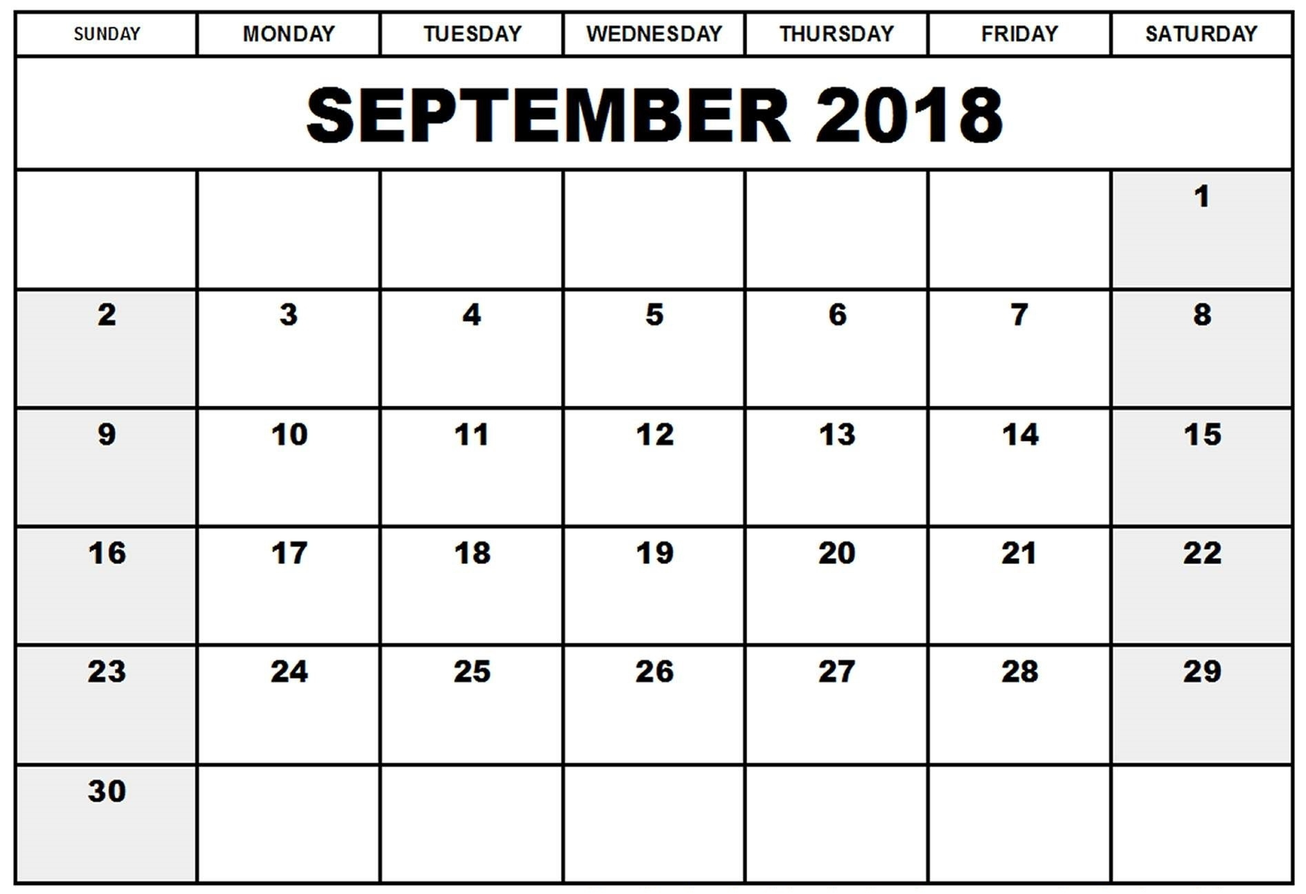September Calendar 2018 Printable – Printable 2018 Calendar  August And Septembercalendar Free Printables