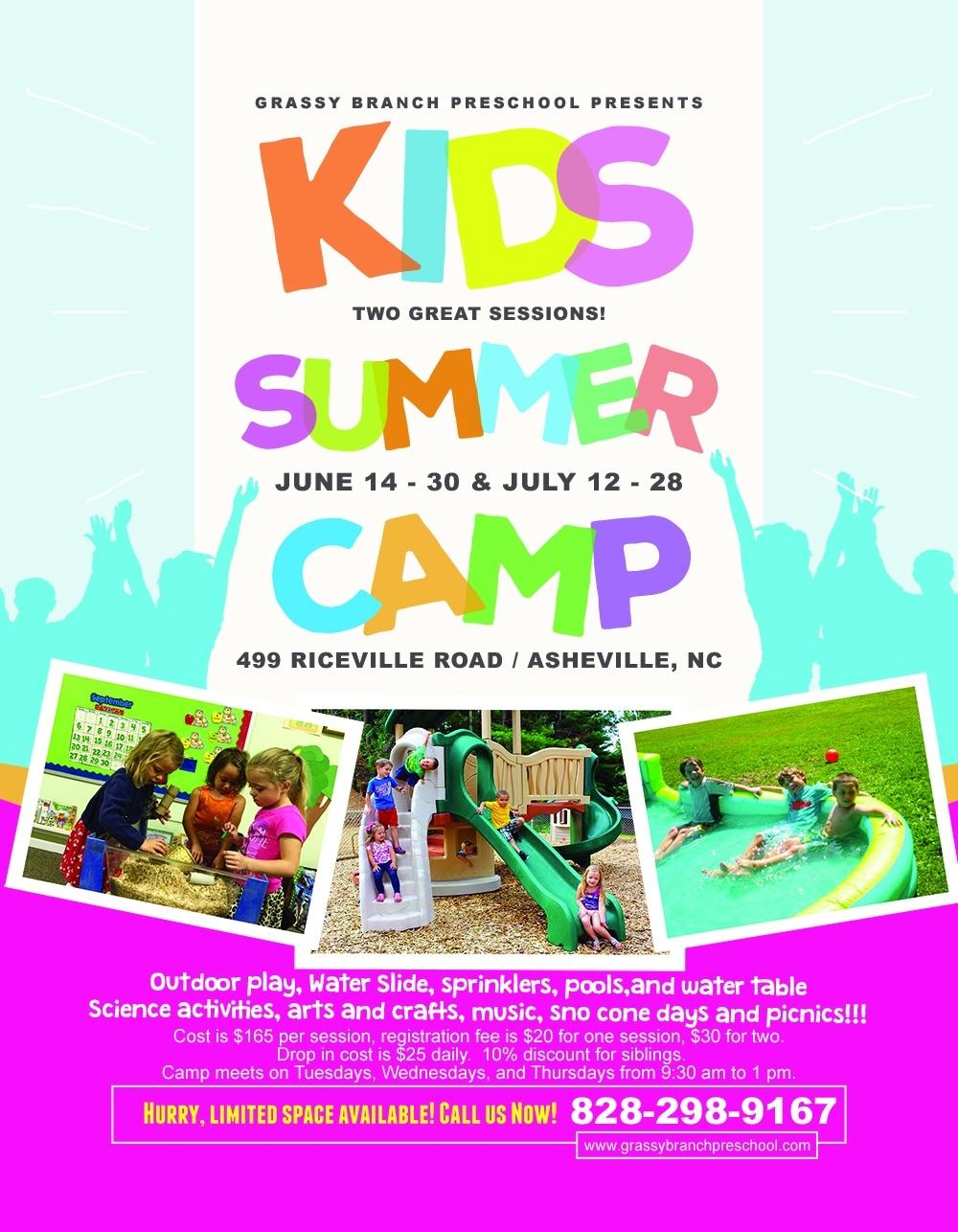 Summer Camp 2016 – Grassy Branch Preschool  Daily Summer Activities For Preschoolers