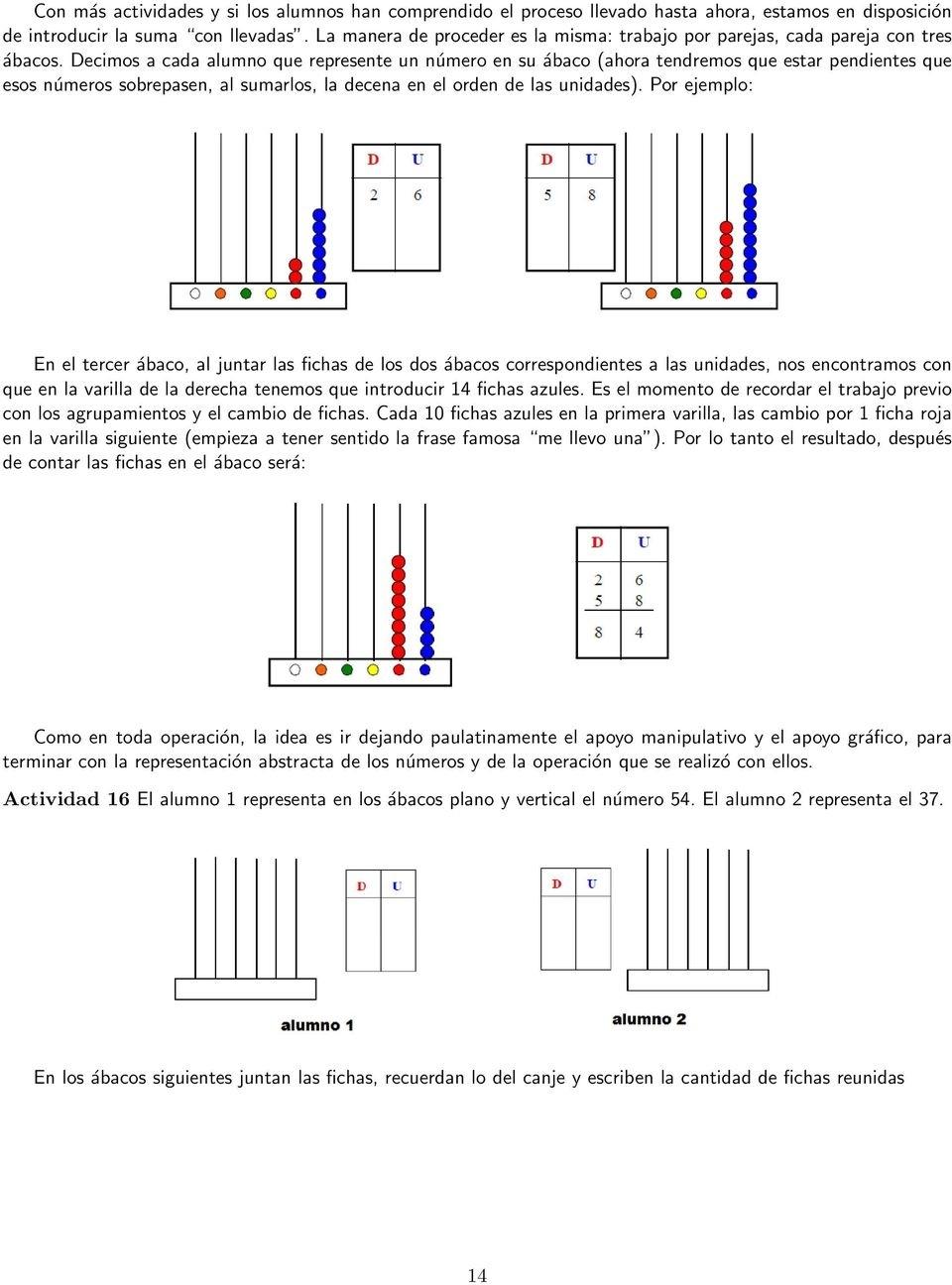 Universidad De La Frontera - Pdf  Operaciones Con El Abaco Suma