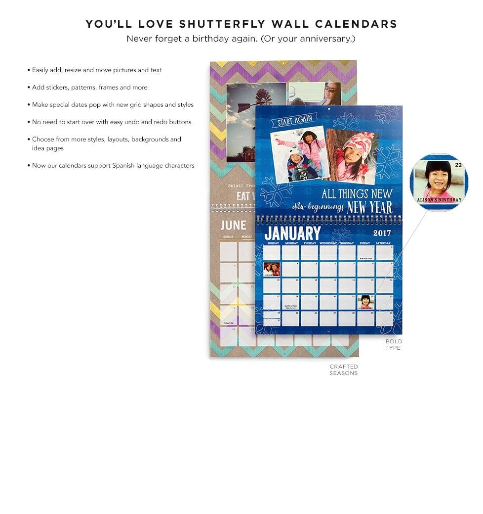 Wall Calendars Wall Calendar | Shutterfly  12 X 12 Wall Calendar Holder