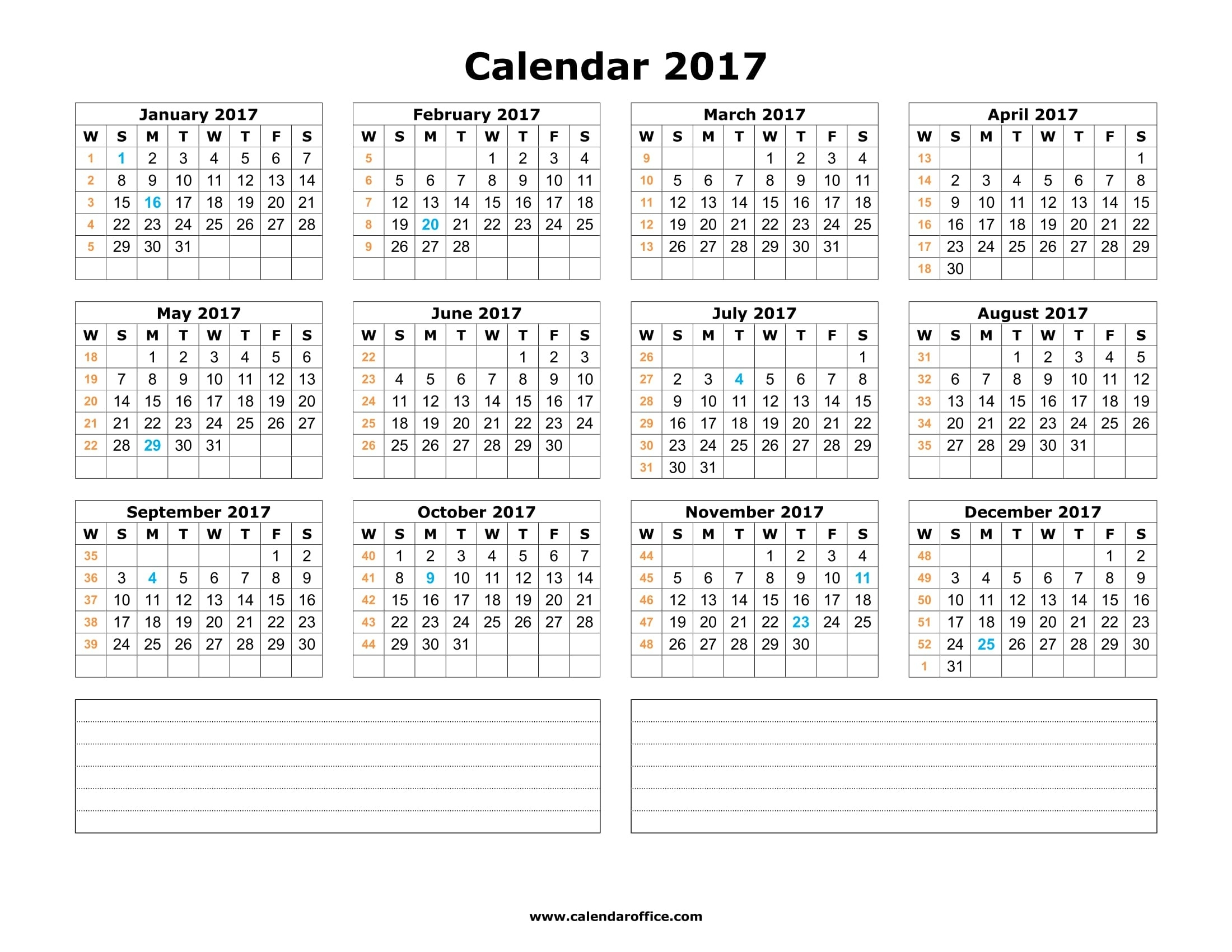 Webelations - 2017 Free Printable Calendars  Calander From August - December