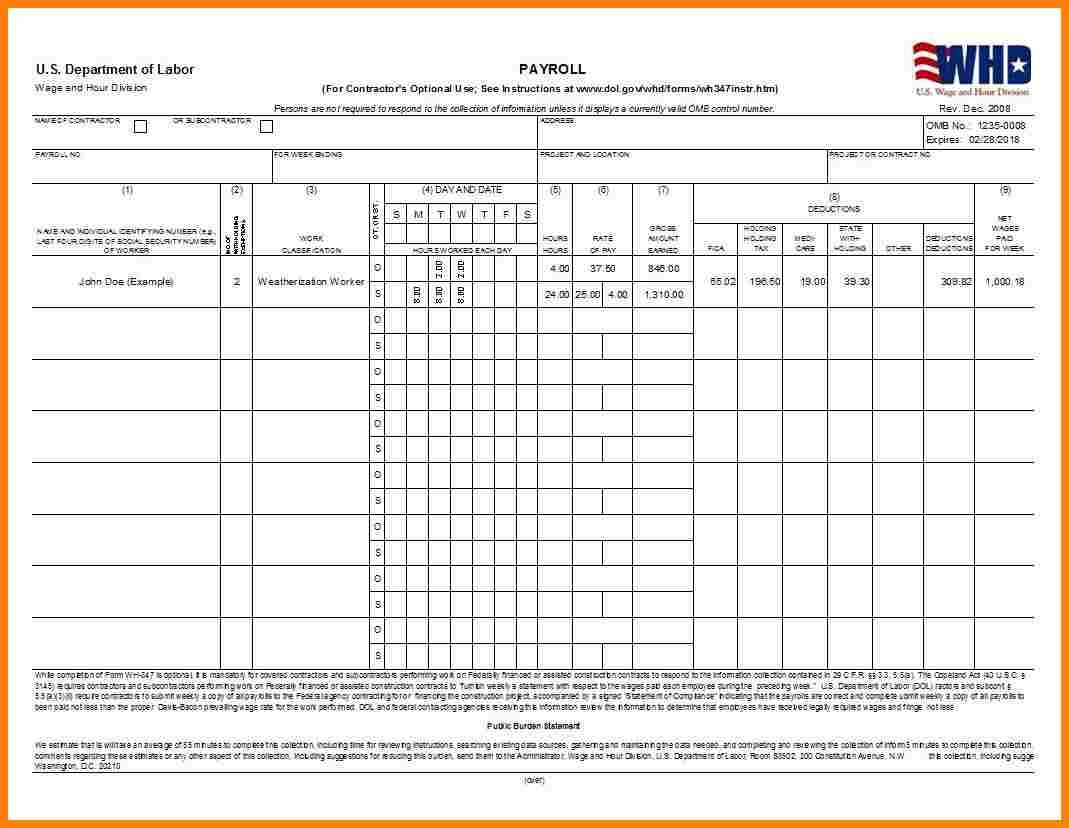 Weekly Payroll Spreadsheet Template | Inzare  Excel Templates For  Sample Of Weekly Payroll Format
