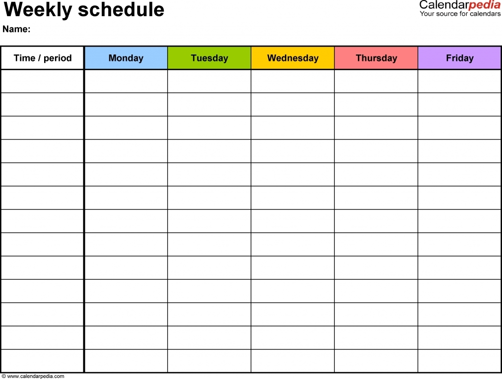 Weekly Planner Monday To Sunday Can Be Fun For Everyone – Planner  Weekly Schedule Monday - Sunday