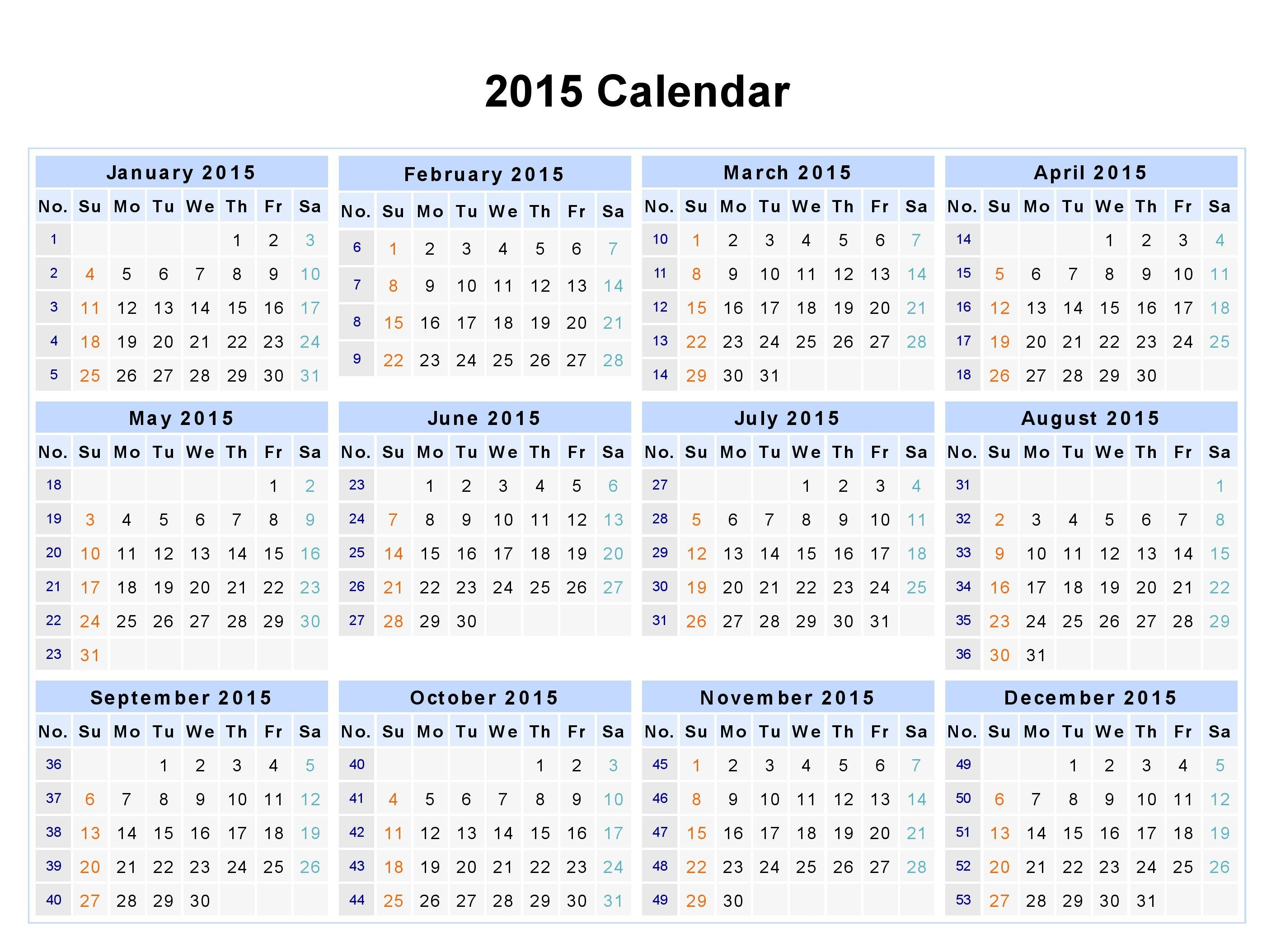 12 Month Calendar 2015 - Google Search | Quotes, Thoughts, And  2014 12 Month Blank Calendar
