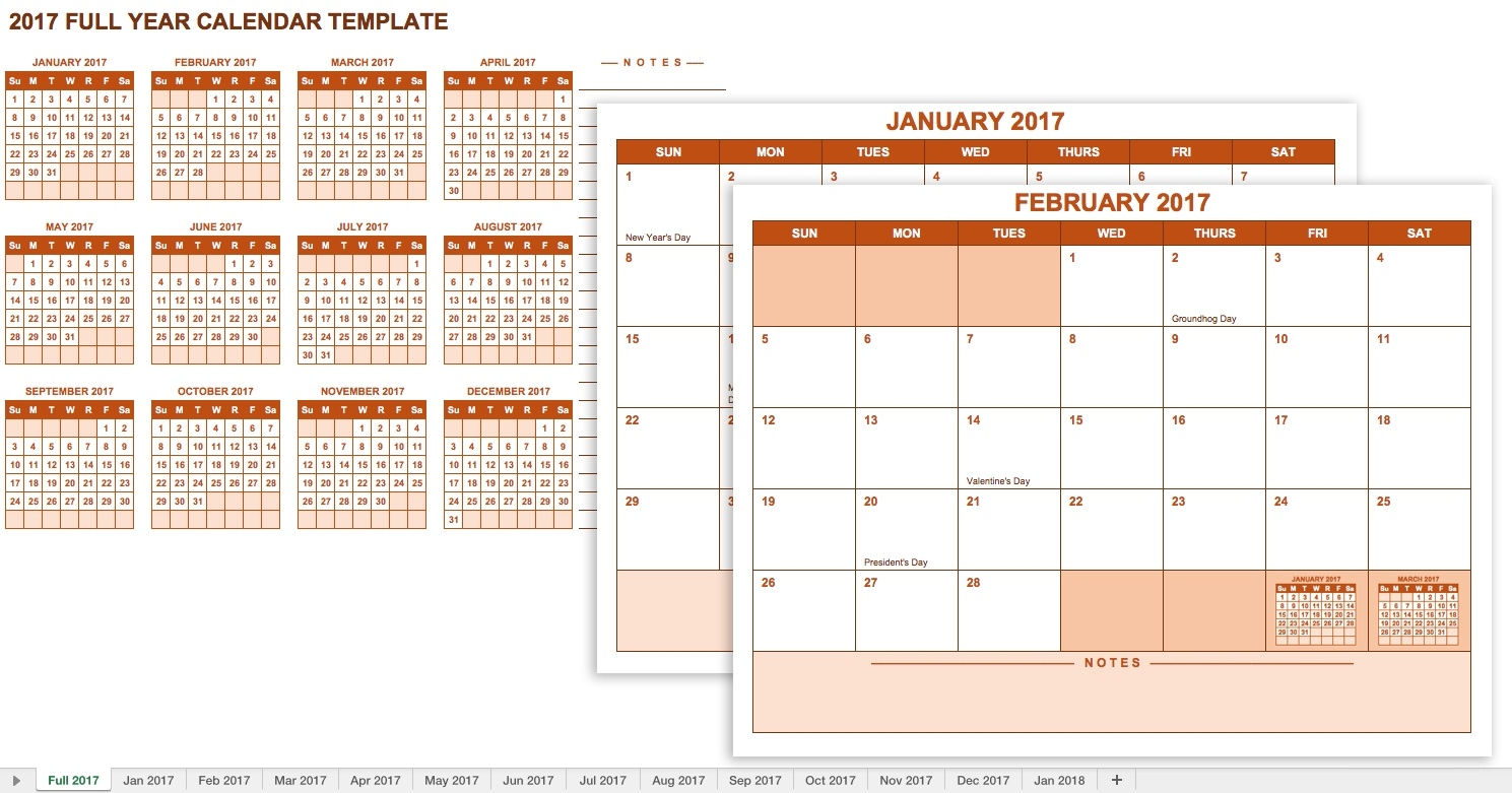 15 Free Monthly Calendar Templates | Smartsheet  12 Month Calendar With Room For Notes