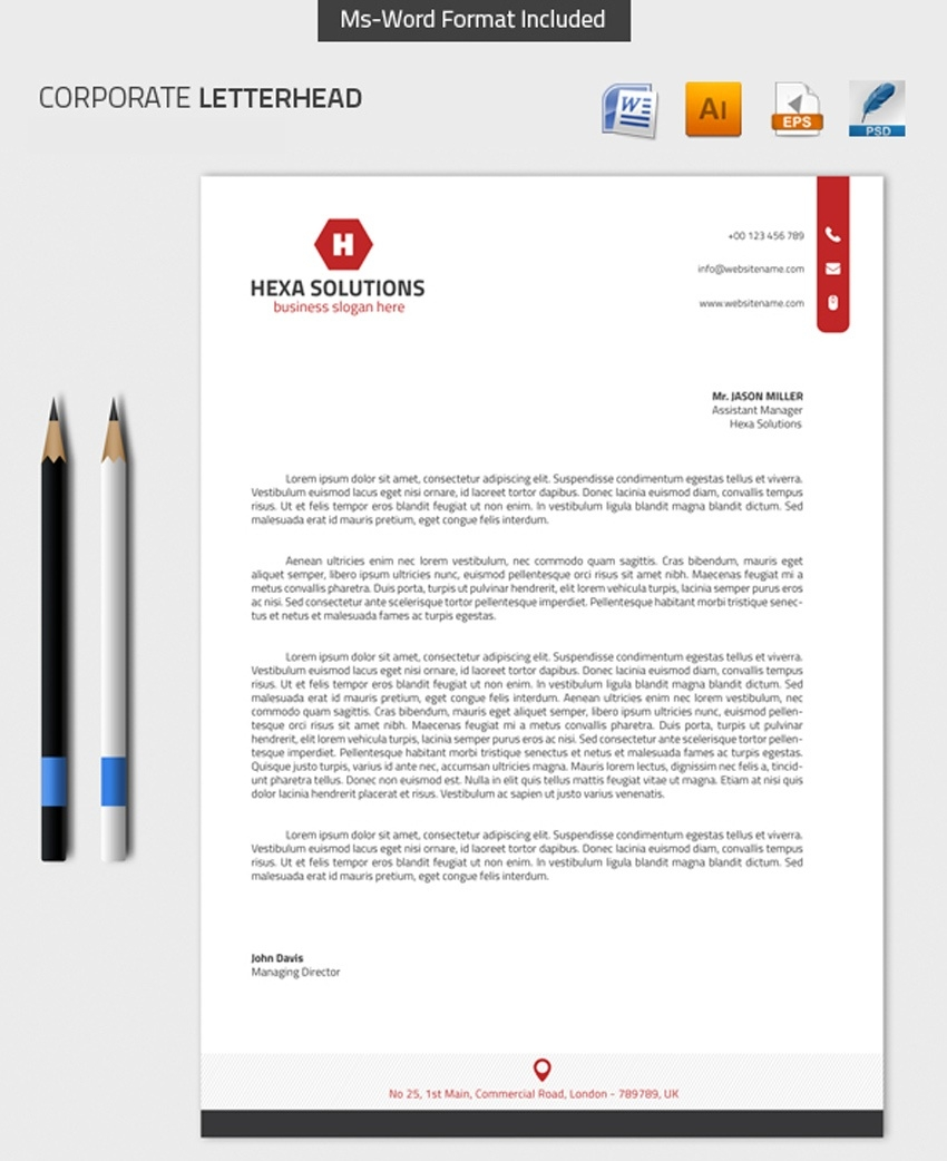 25 Professional Modern Letterhead Templates  Itt Technical Institute Blank Letterhead