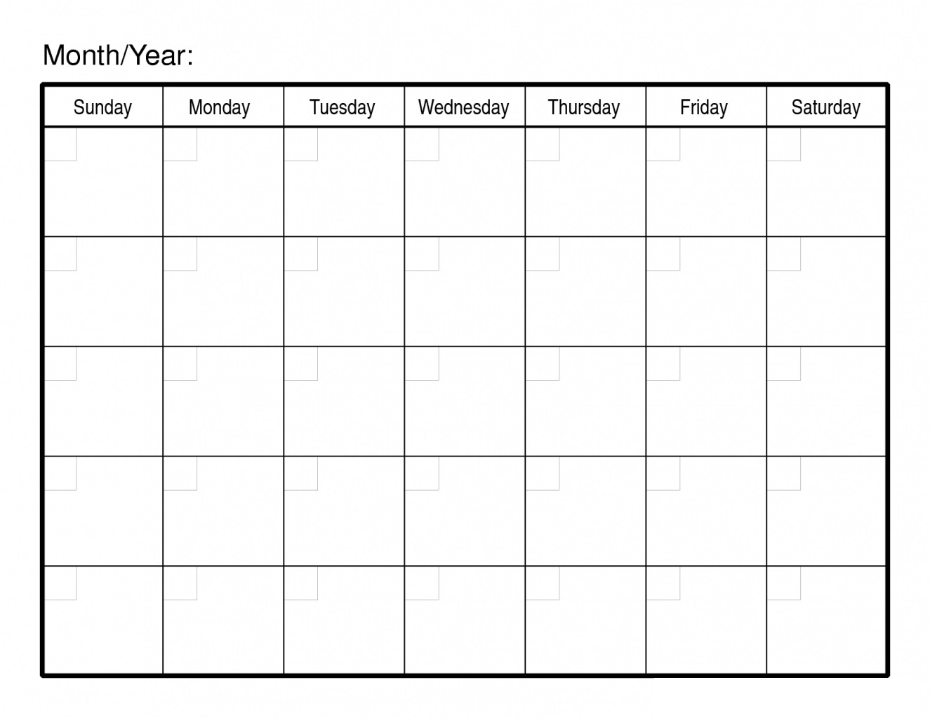 30 Day Free Blank Calendar Printable Template | Free Printable  Blank 30 Day Calendar Template