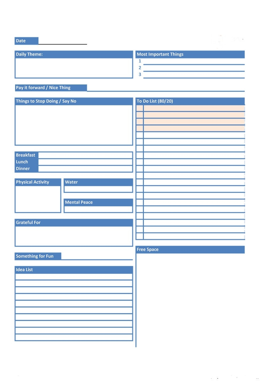 40+ Printable Daily Planner Templates (Free) - Template Lab  Daily Planner Template Printable Free