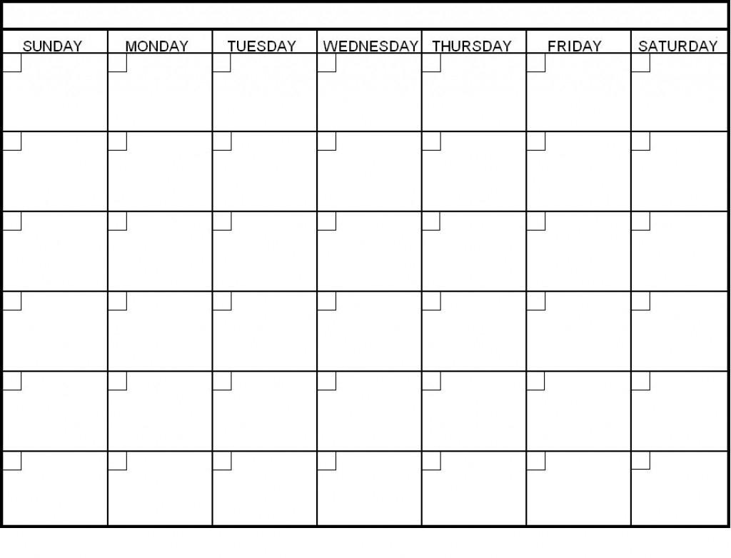 6 Week Calendar Blank | Weekly Calendars 2018  6 Week Blank Calendar Template