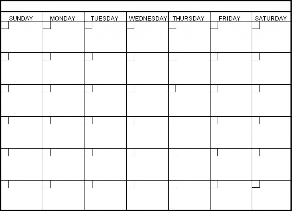 6 Week Calendar Blank | Weekly Calendars 2018  6 Week Blank Schedule Template